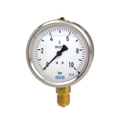 Picture of Đồng hồ áp suất WIKA chân đồng 213.53.100-10 bar